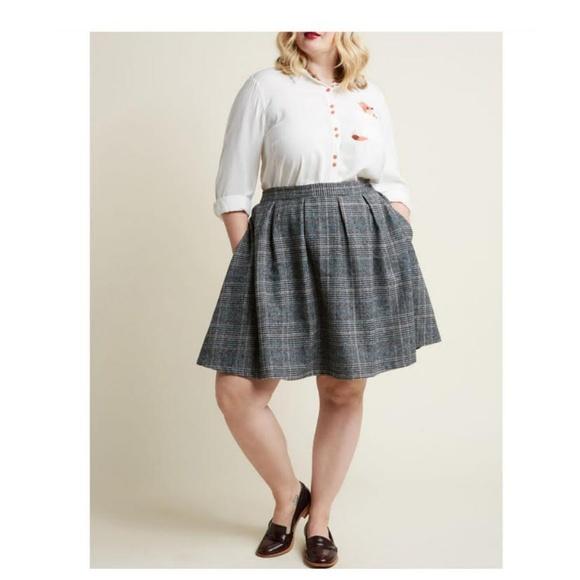 a910f6a3690 MODCLOTH Brisk-Taker Wool Mini Skirt Sz 2X NWOT. M 5be923705c445269fe5c567f